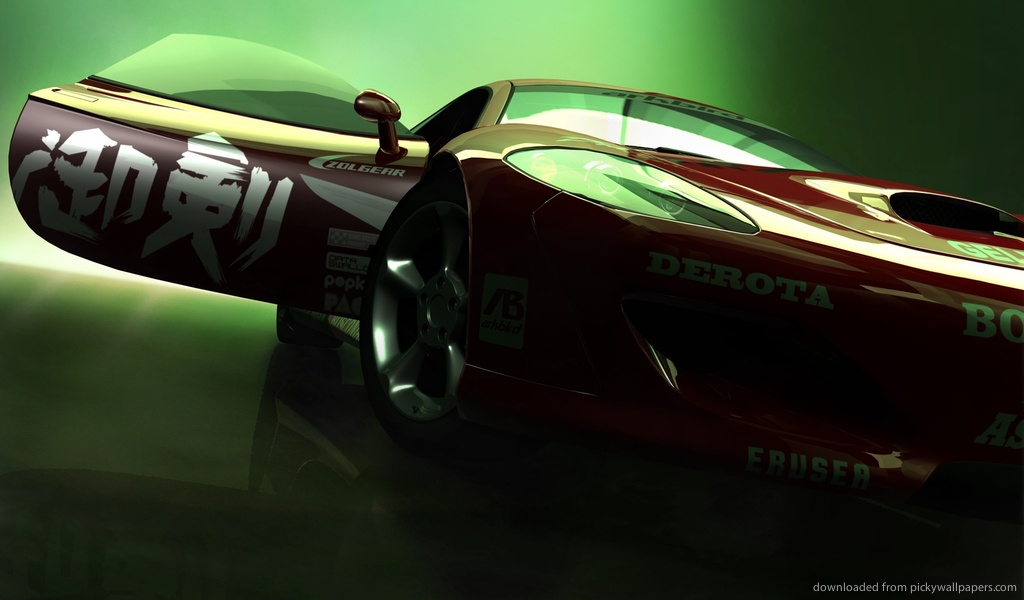 Download 1024x600 Ridge Racer HD Car Wallpaper
