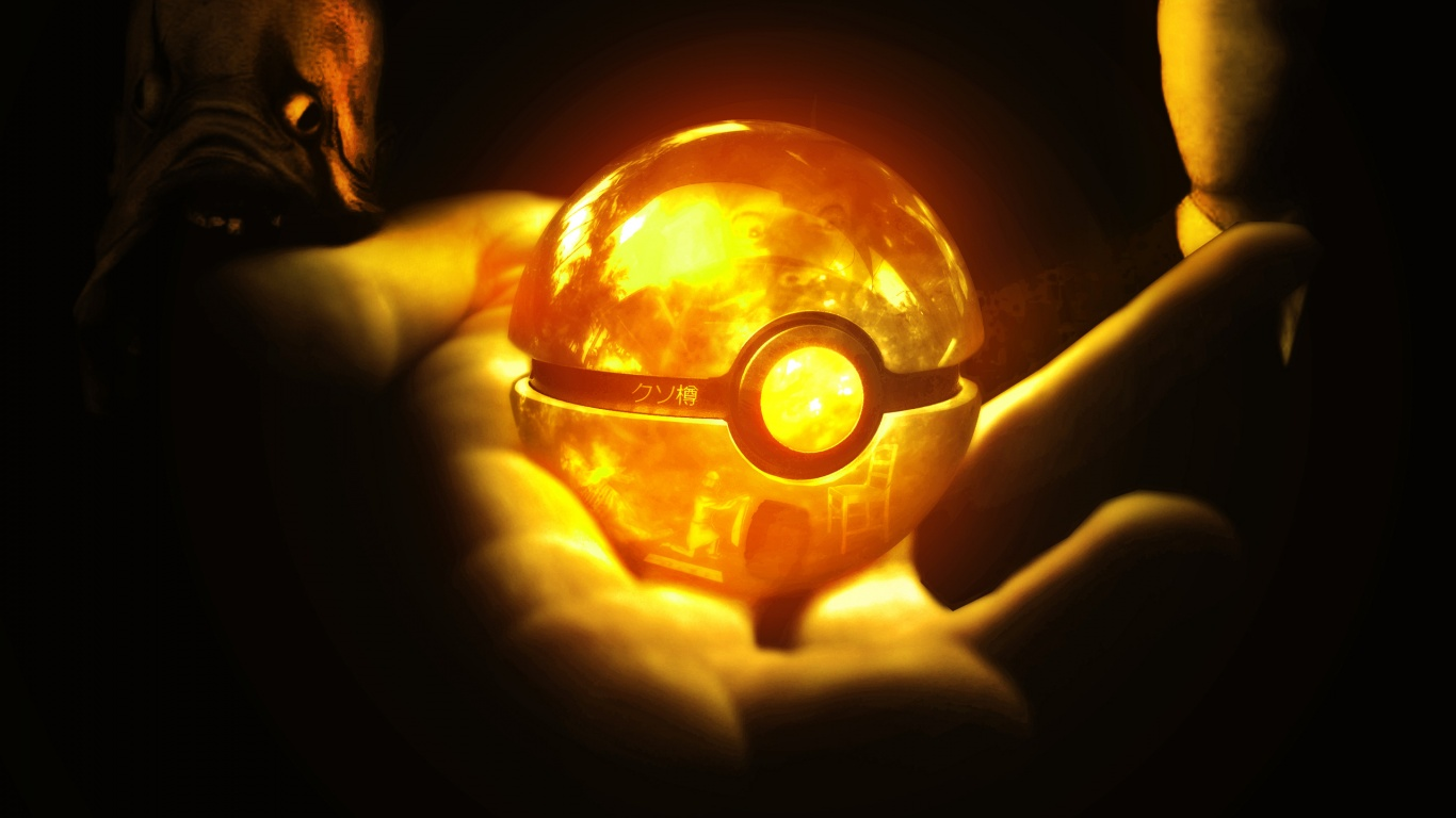 1366x768 Pokeball Wallpaper