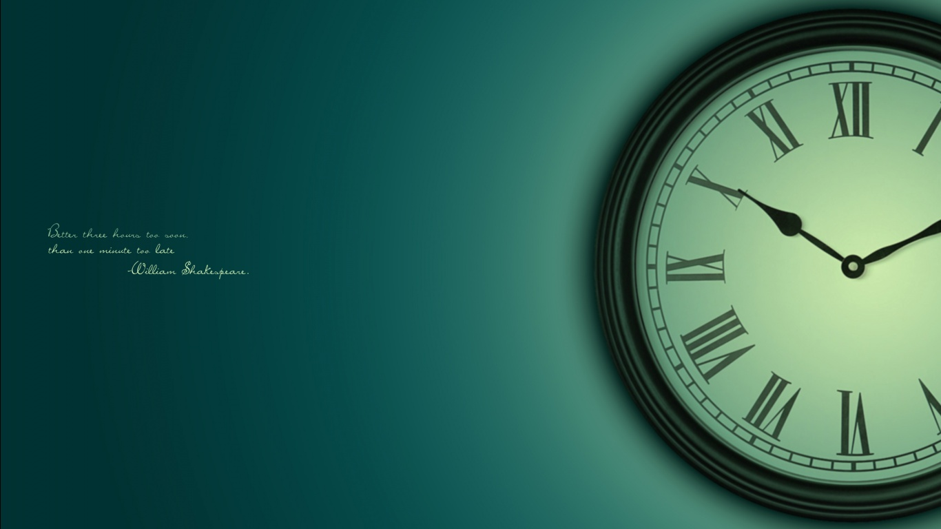 HD Clock wallpaper | 1366x768 | #33747