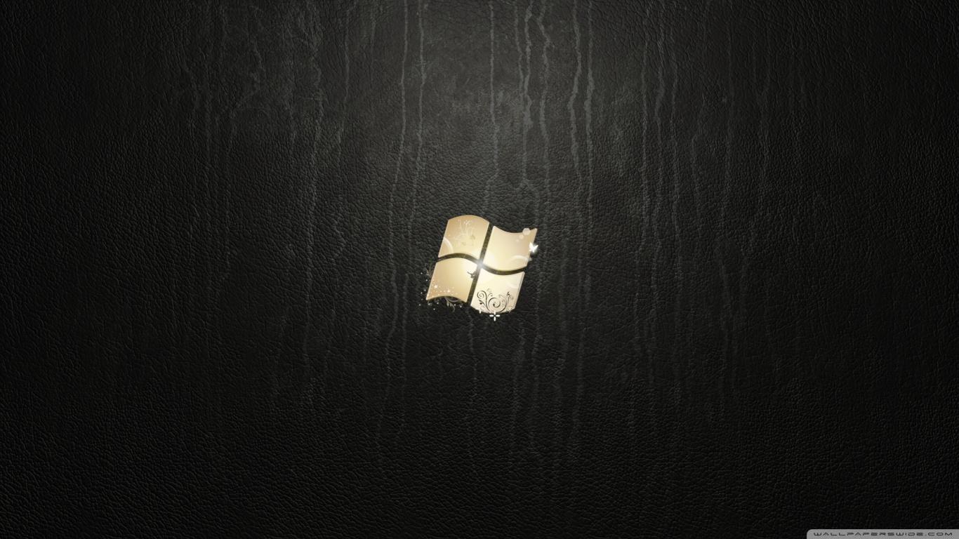 Windows 7 Ultimate Leather HD desktop wallpaper : Fullscreen