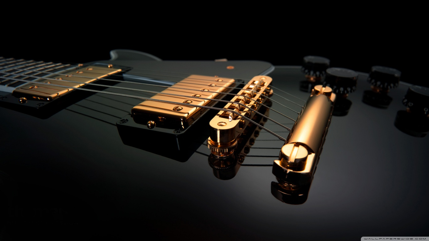 Black Guitar HD desktop wallpaper : High Definition : Mobile