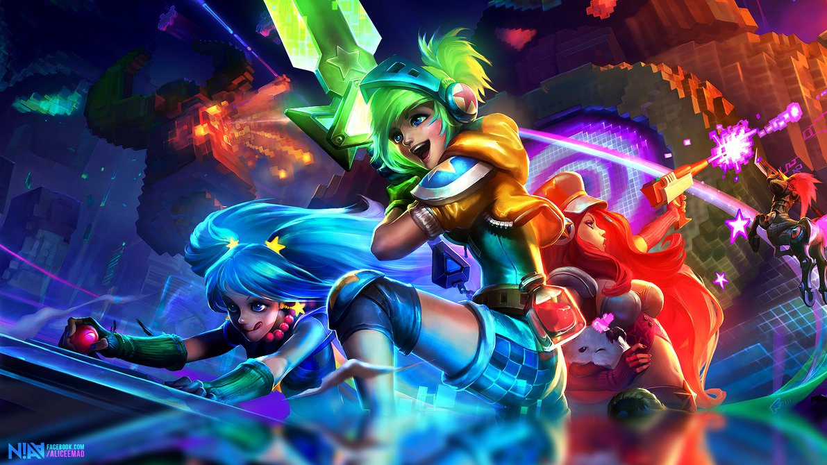 League of Legends Arcade - Wallpaper 1920x1080 by AliceeMad on