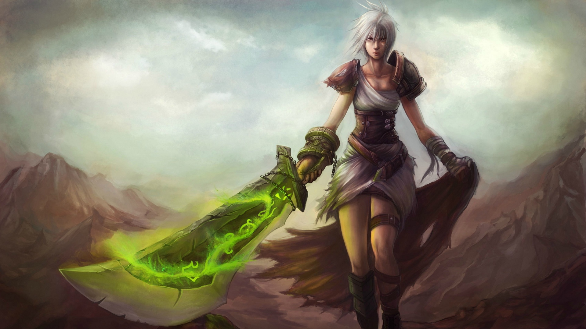 1920x1080 League of legends riven Wallpaper