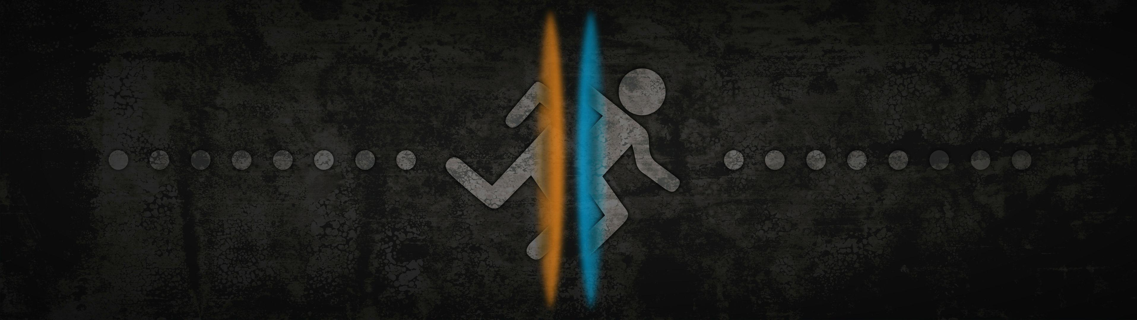 Portal 2 Dual Screen Wallpaper : gaming