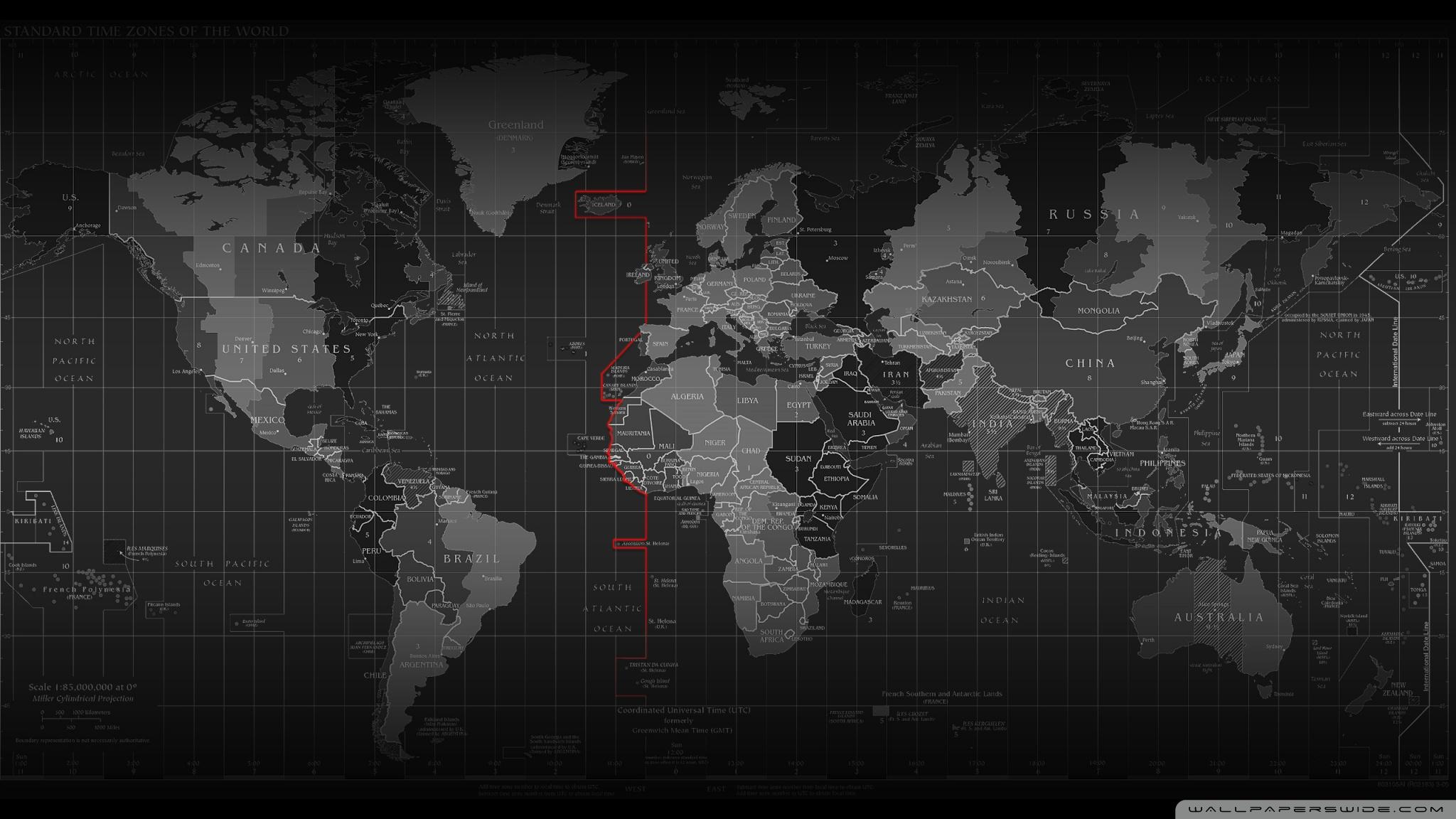 Time Zone Map HD desktop wallpaper : High Definition : Mobile