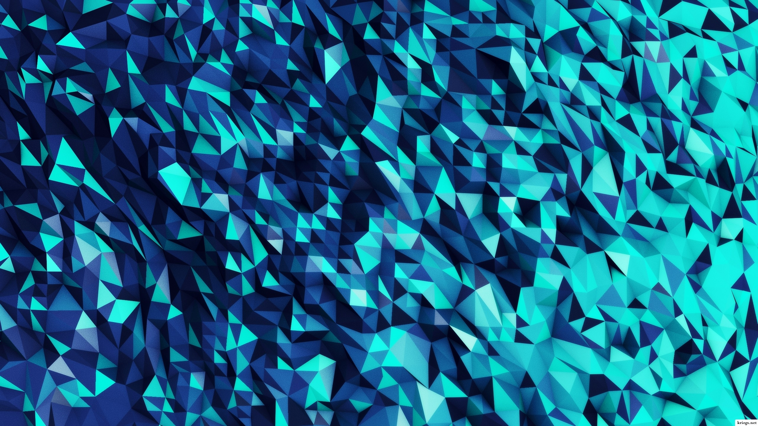 Download Wallpapers, Download 2560x1440 abstract blue shapes