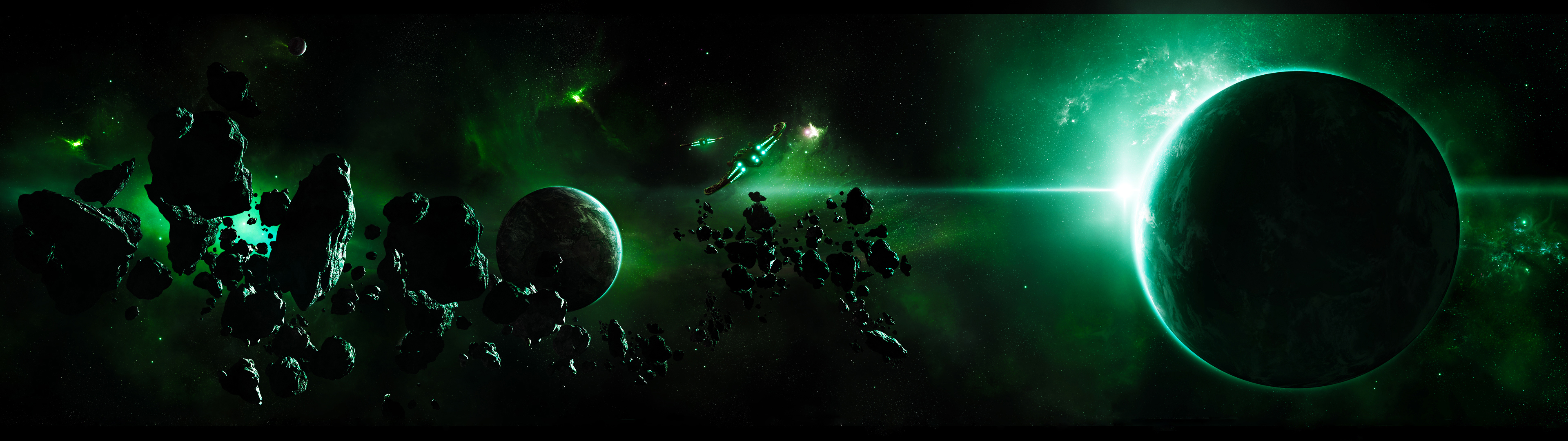 Green Planet Wallpaper | 3840x1080 | ID:20748