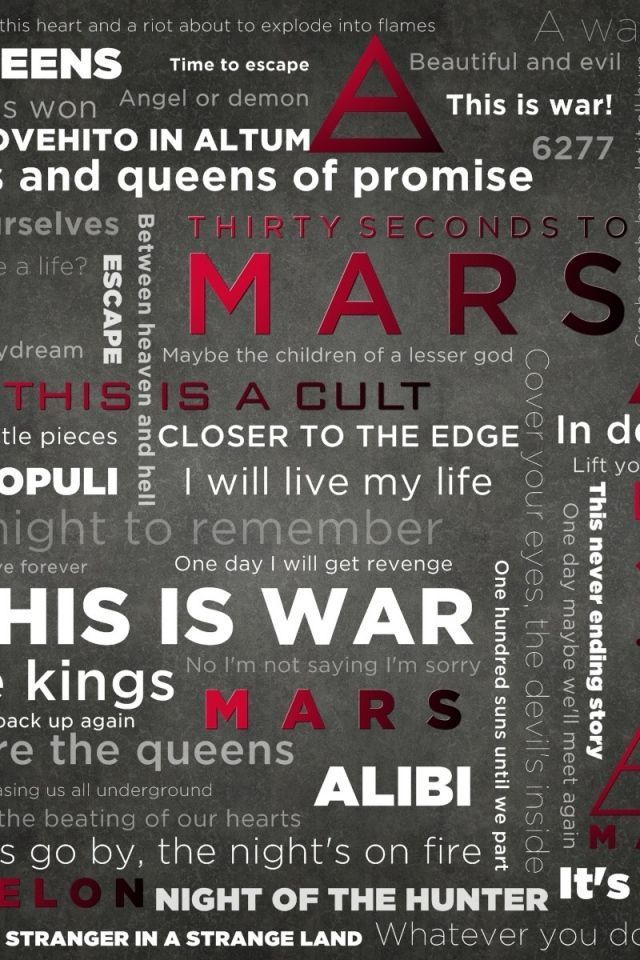 30 Seconds To Mars iPhone Wallpapers Group (47+)
