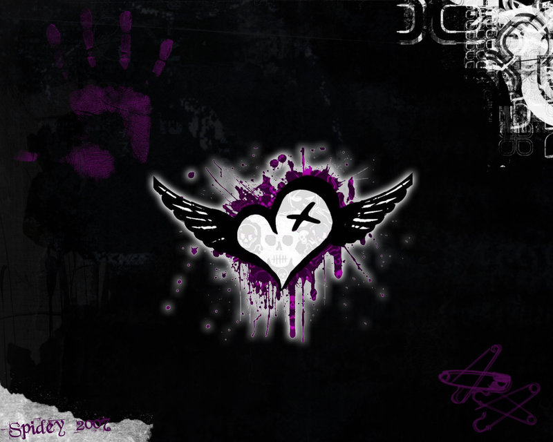 Winged Heart wallpaper from EMO wallpapers