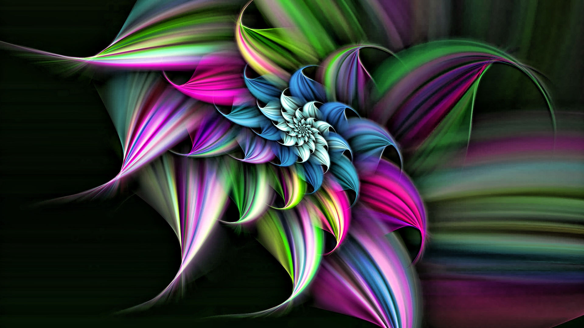 3D Images Rainbow Flower Wallpapers | Free Download Wallpaper