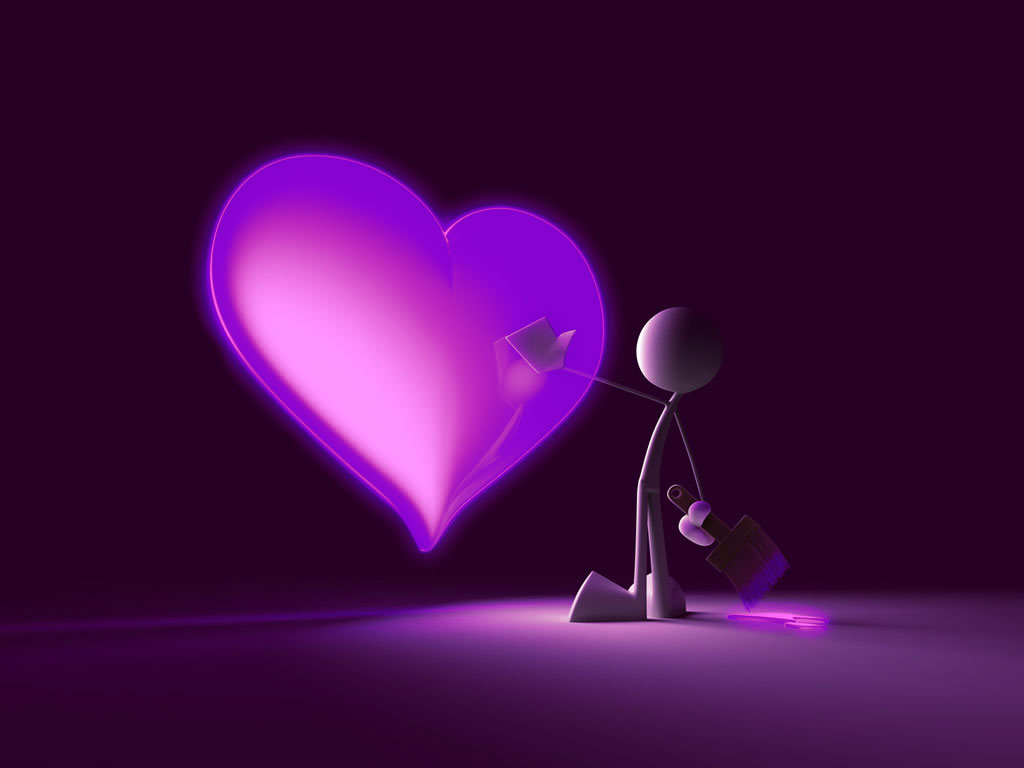 3D Desktop Love Wallpaper - WallpaperSafari