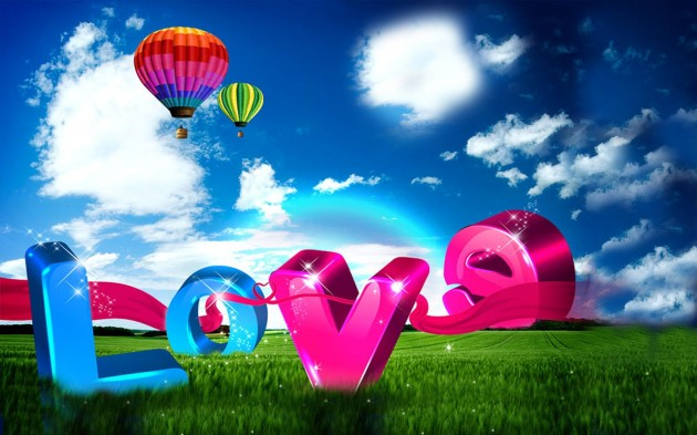 20 units of 3d Love Wallpaper