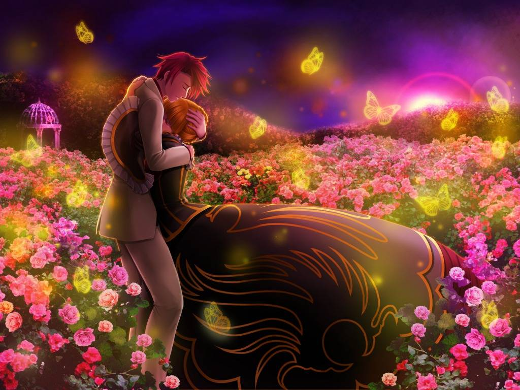 Romantic Love Couple 3D Wallpaper and You Like This Love Wallpaper