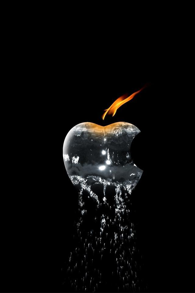 3D Apple Elements Best Wallpaper for iPhone 4
