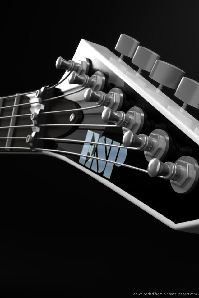 Download 3D Guitar Wallpaper For iPhone 4