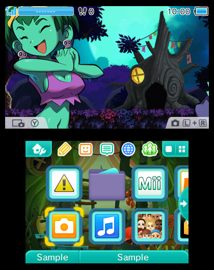 "Shantae ""Premium Themes"" for Nintendo 3DS 
