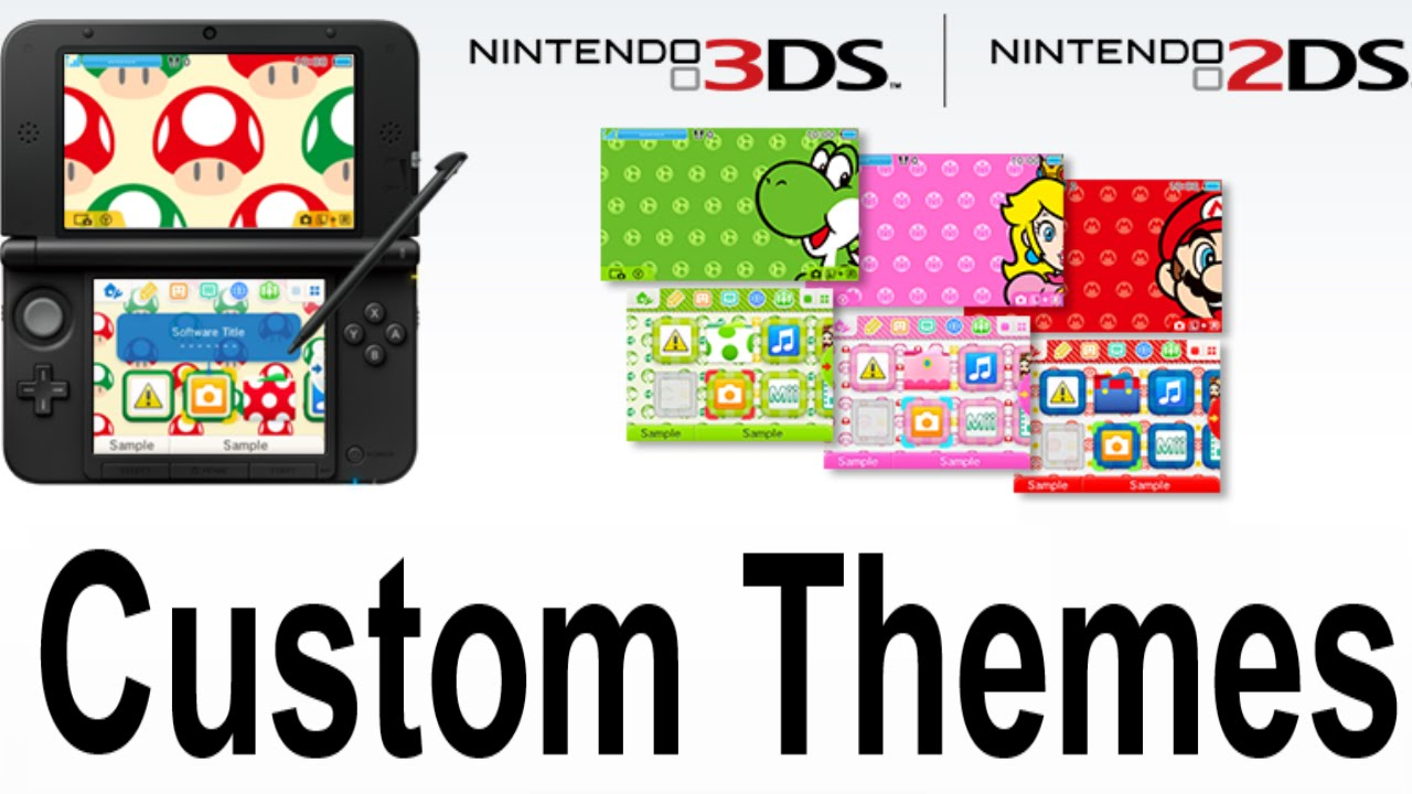 3DS 2DS Update Change Home Menu Themes Backgrounds and Music - YouTube