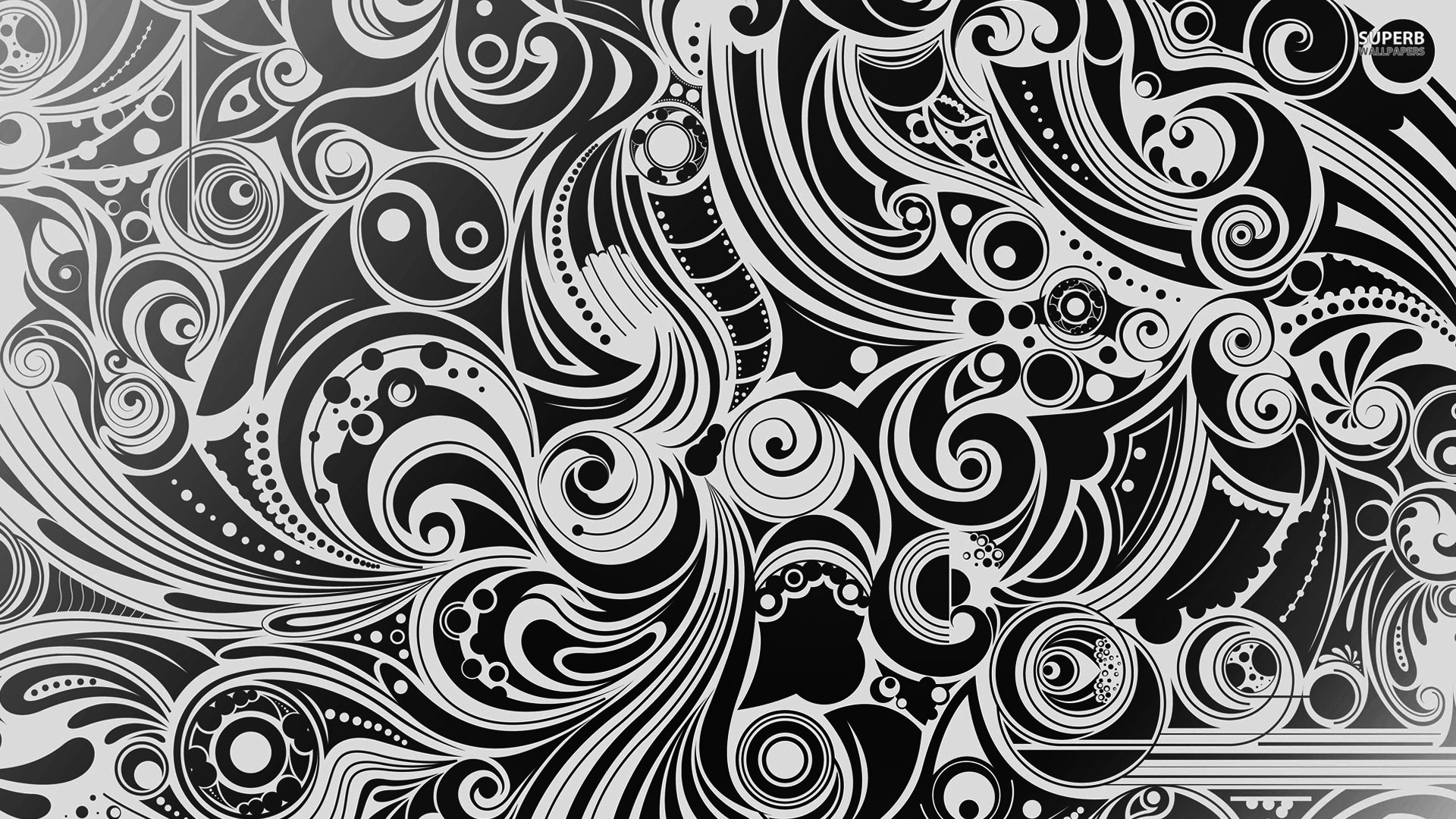 Abstract Art Black And White - wallpaper