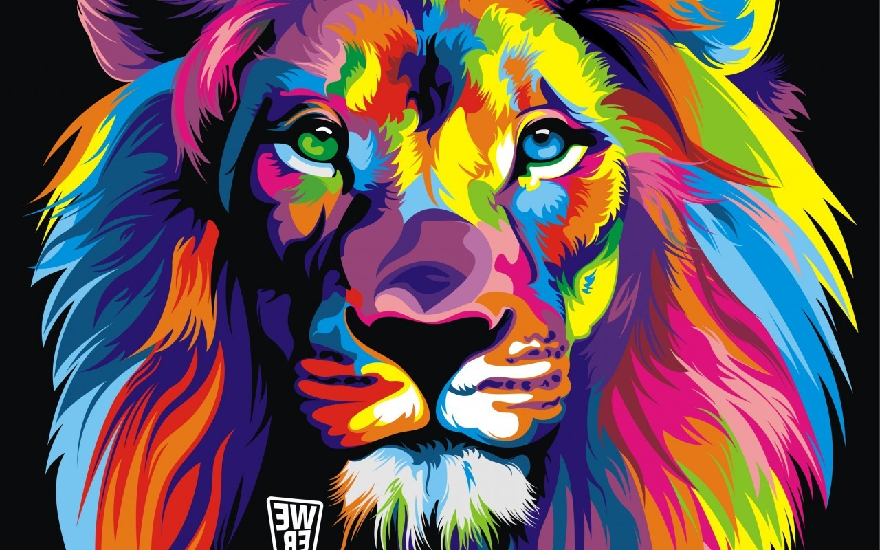 Lion Colorful Abstract Wallpapers HD Desktop And Mobile Src