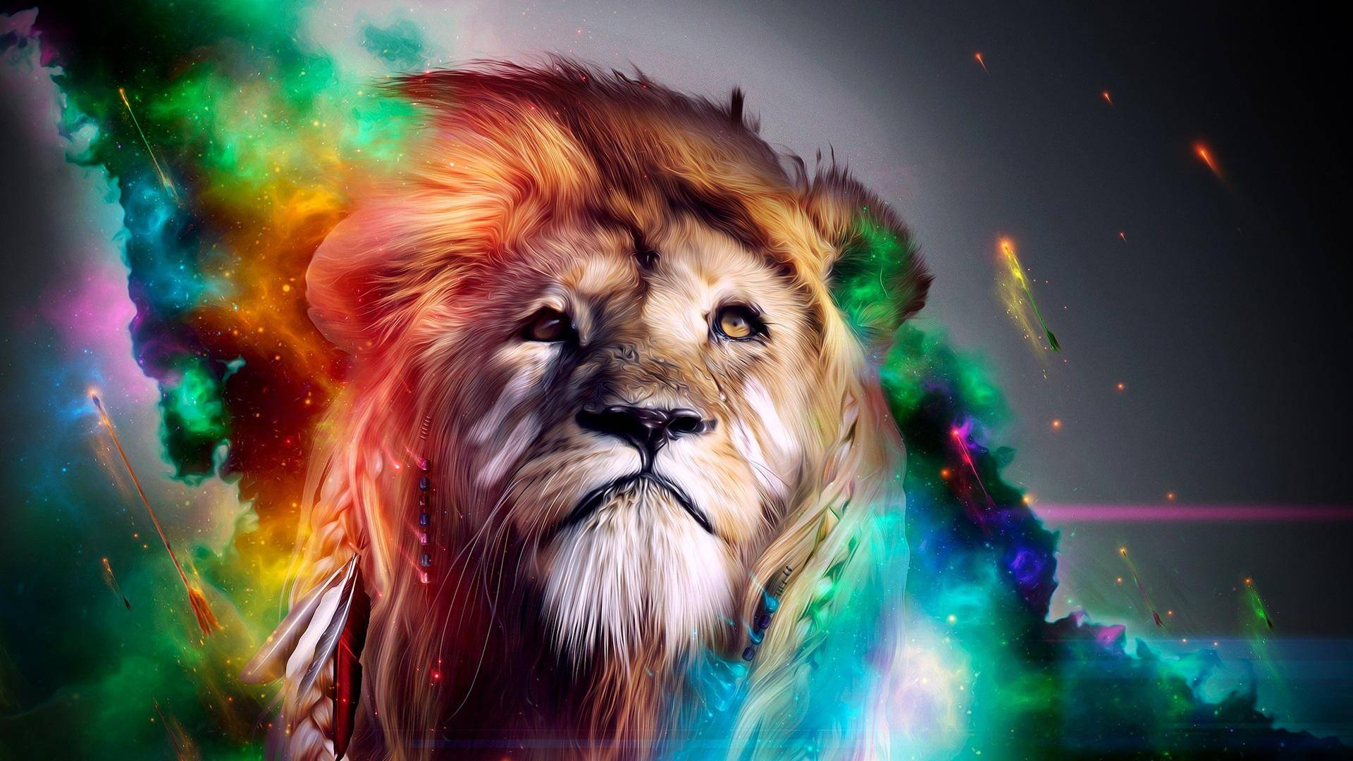 Abstract Lion Wallpaper Sf Wallpaper