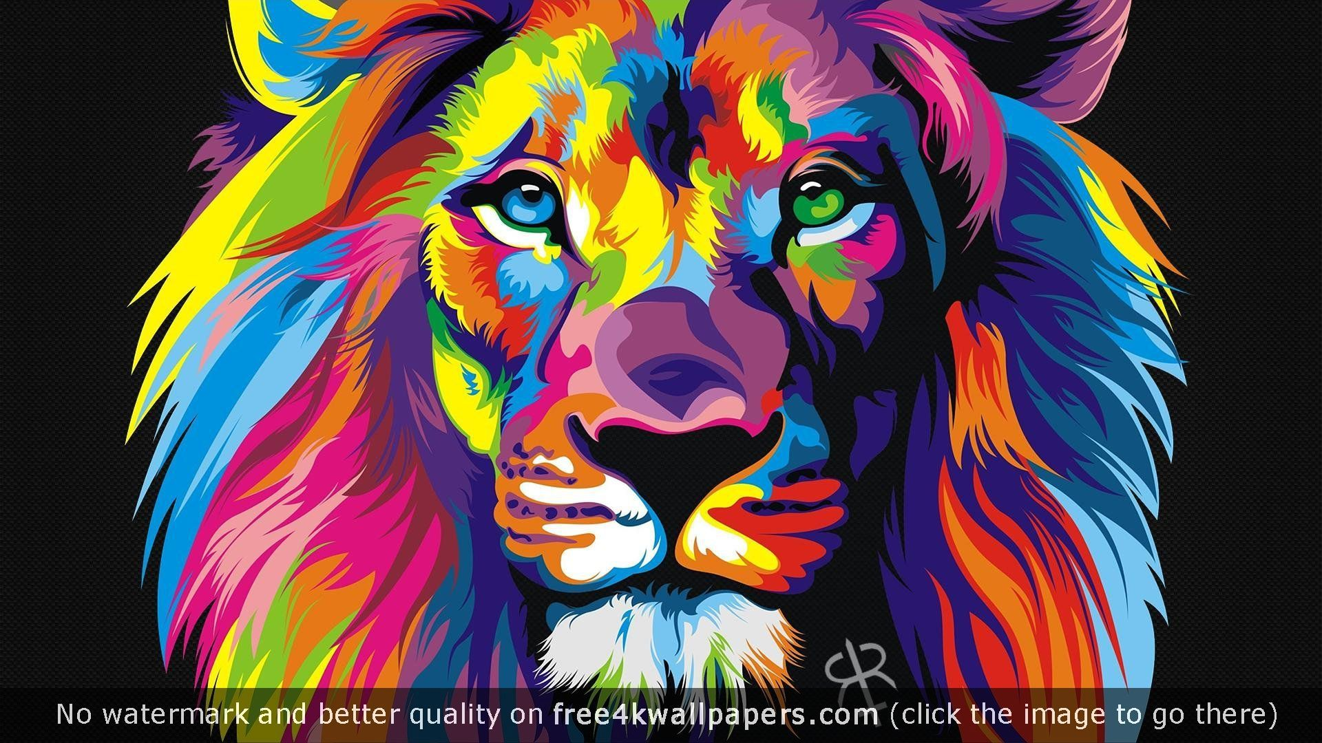 Abstract Lion Wallpaper Page 1
