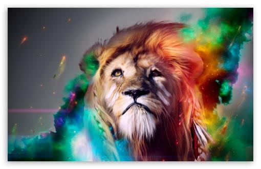 Lion Abstract HD desktop wallpaper : High Definition : Fullscreen