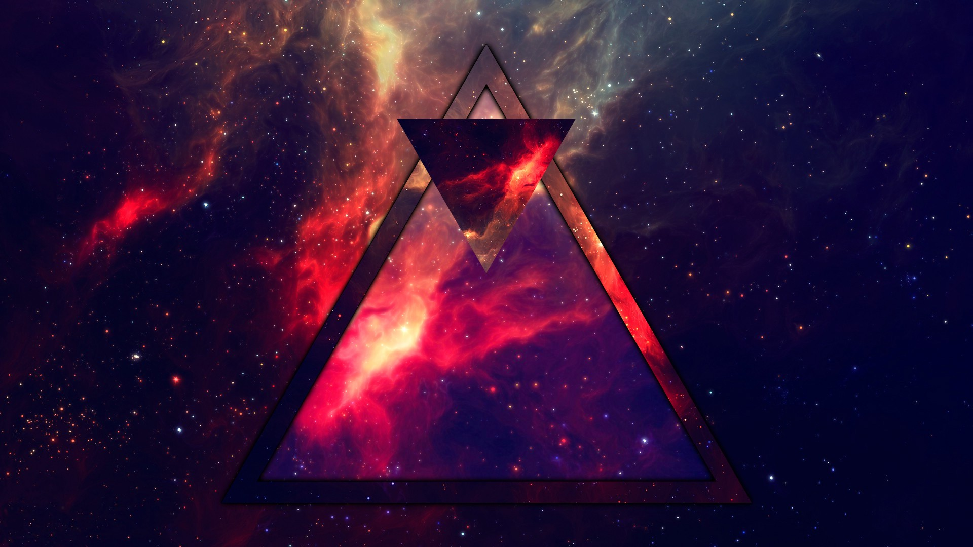 triangle, Abstract, Space Wallpapers HD / Desktop and Mobile