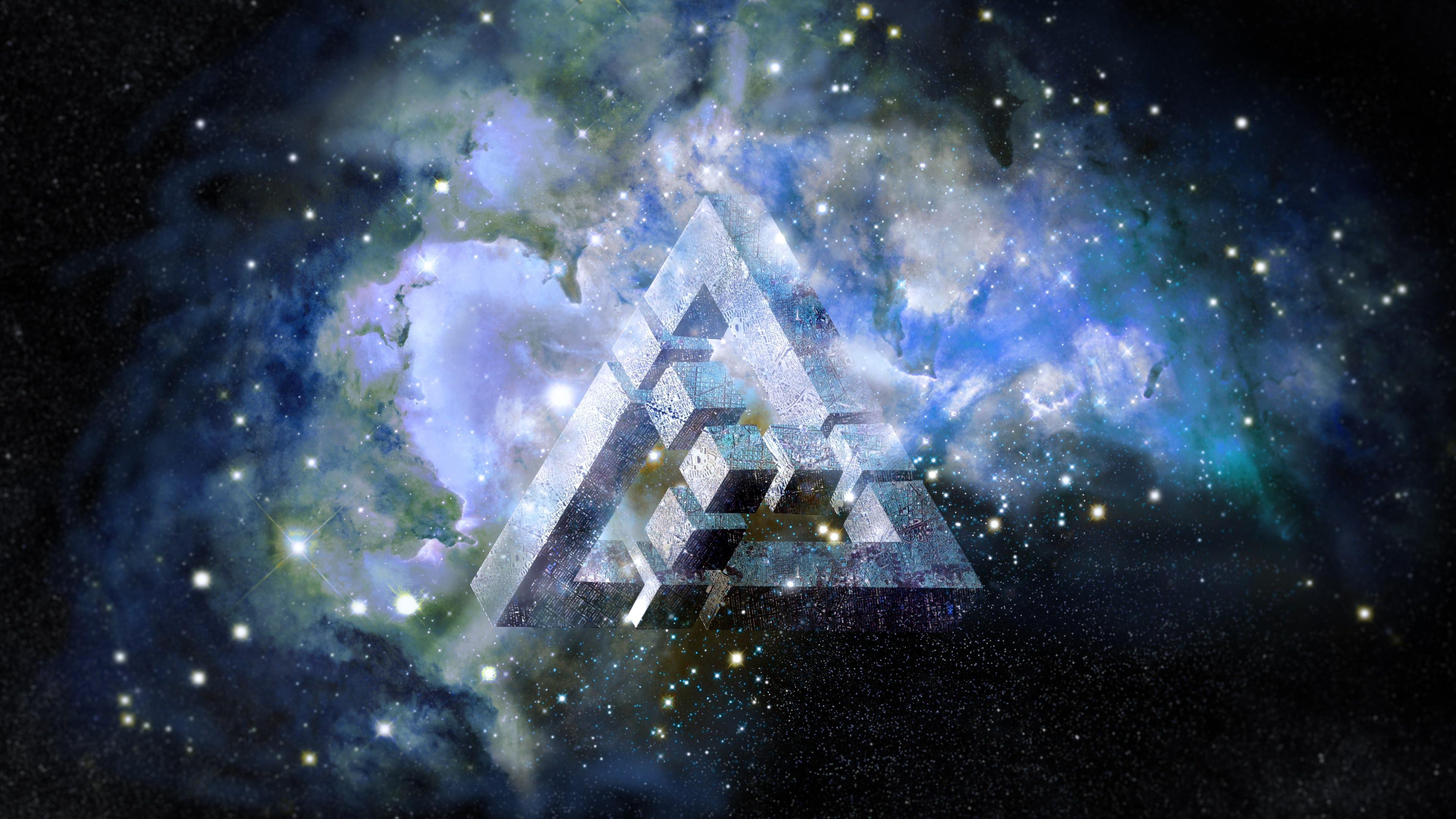nebula, Triangle, Abstract, Space Wallpapers HD / Desktop and