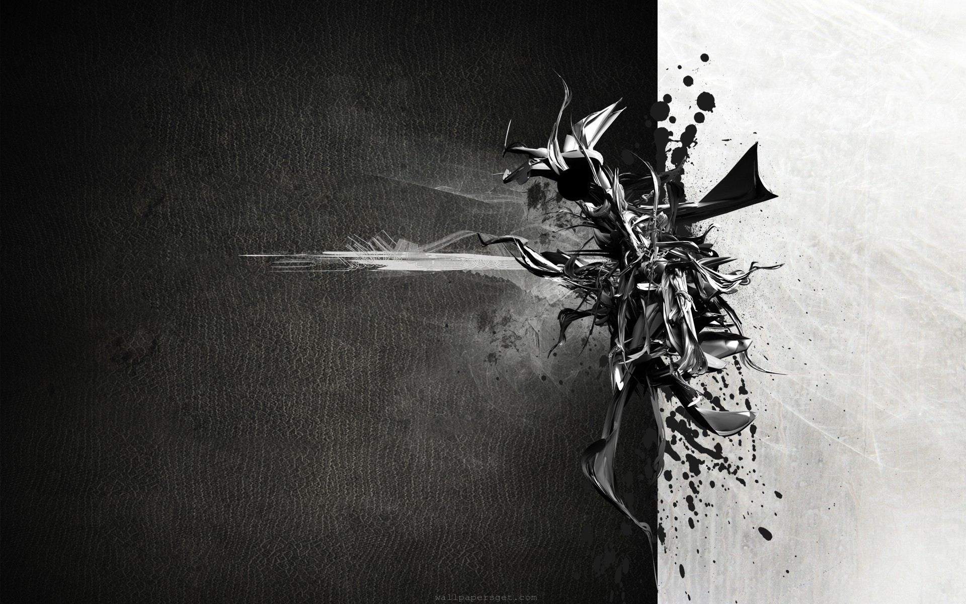 Black Abstract Wallpaper HD - WallpaperSafari