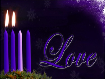 Advent Love Candle Background | Vertical Hold Media | WorshipHouse