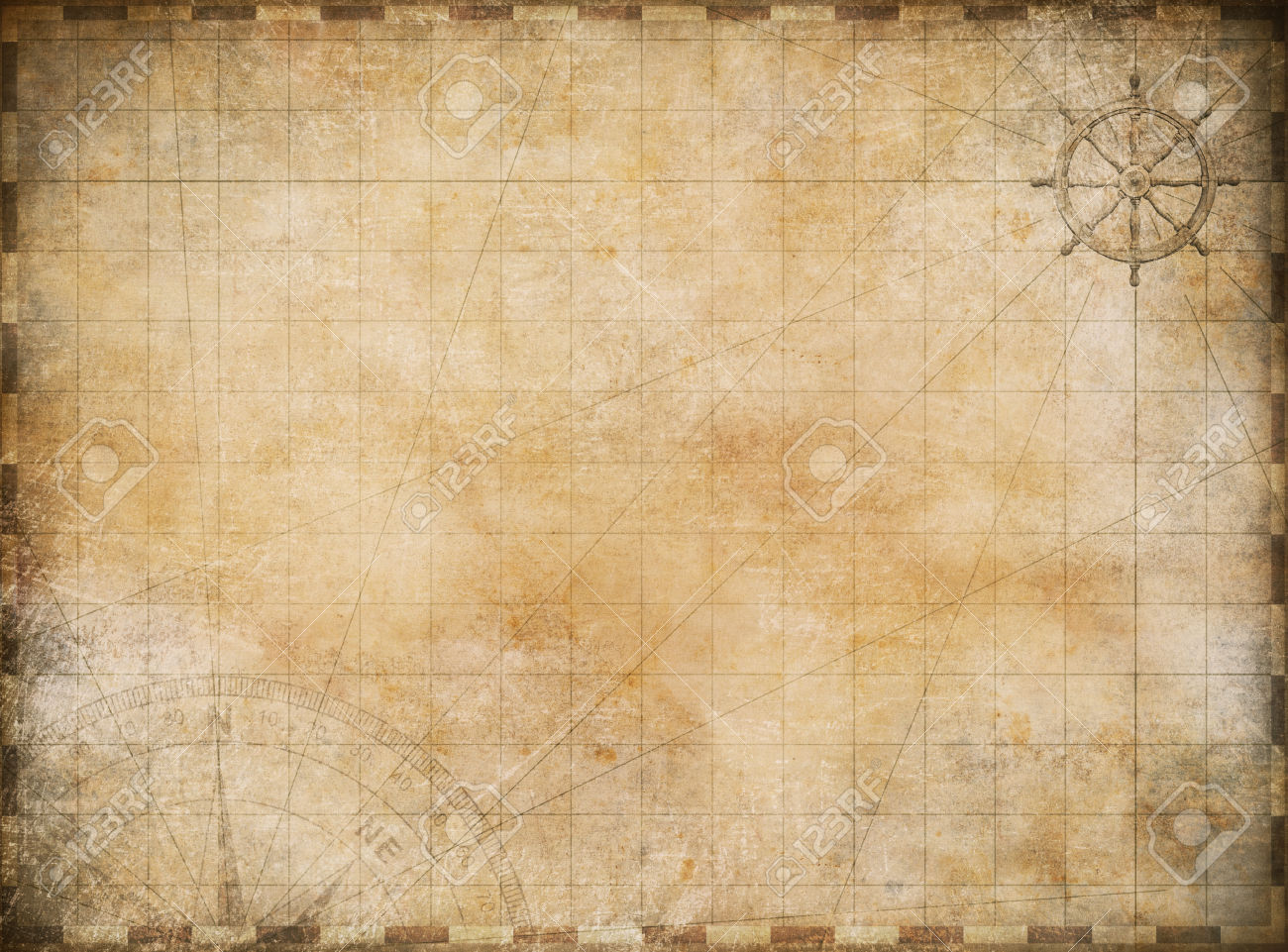 Old Map Exploration And Adventure Background Stock Photo, Picture