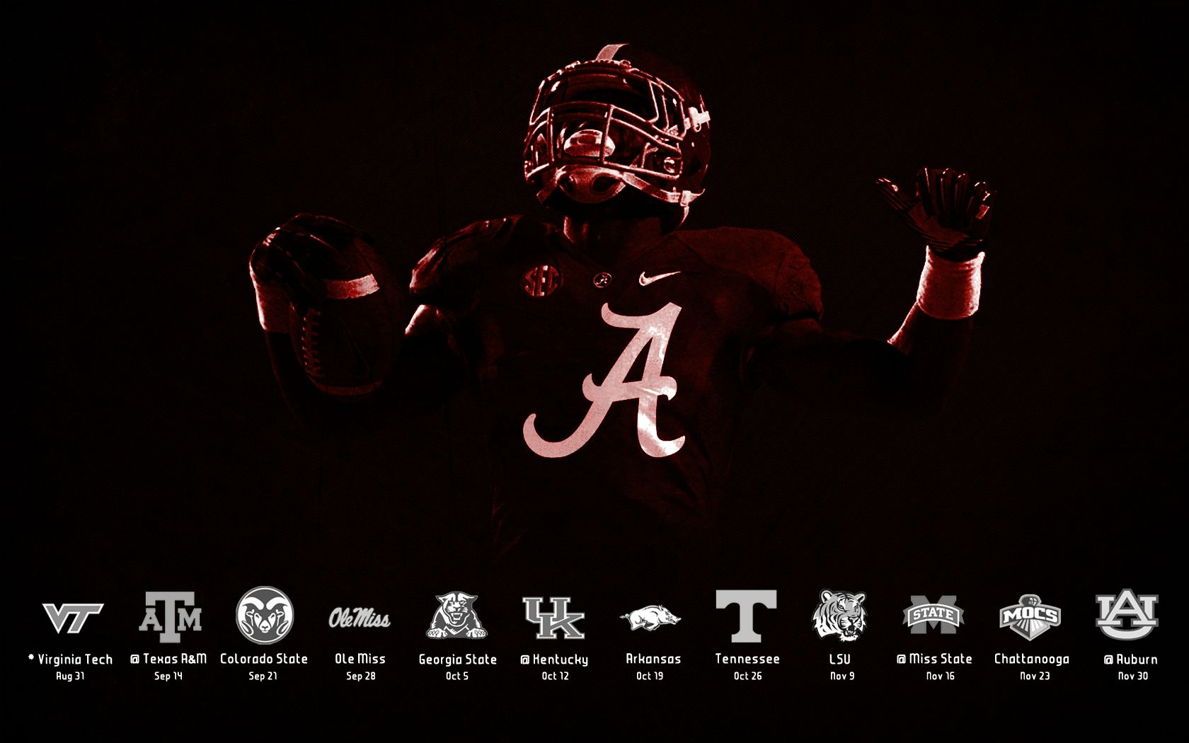 Alabama Crimson Tide Desktop Wallpaper Page 1