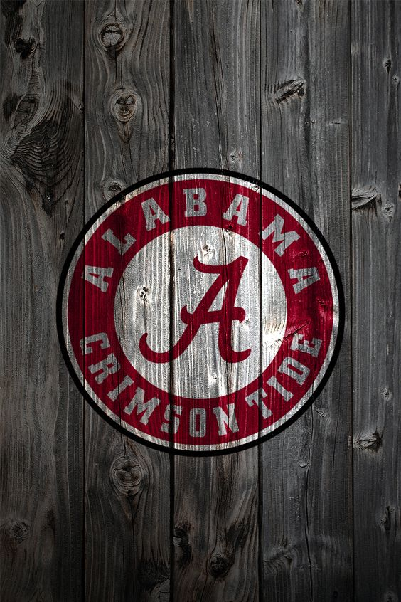 bama pics for football | Alabama Crimson Tide Logo on Wood