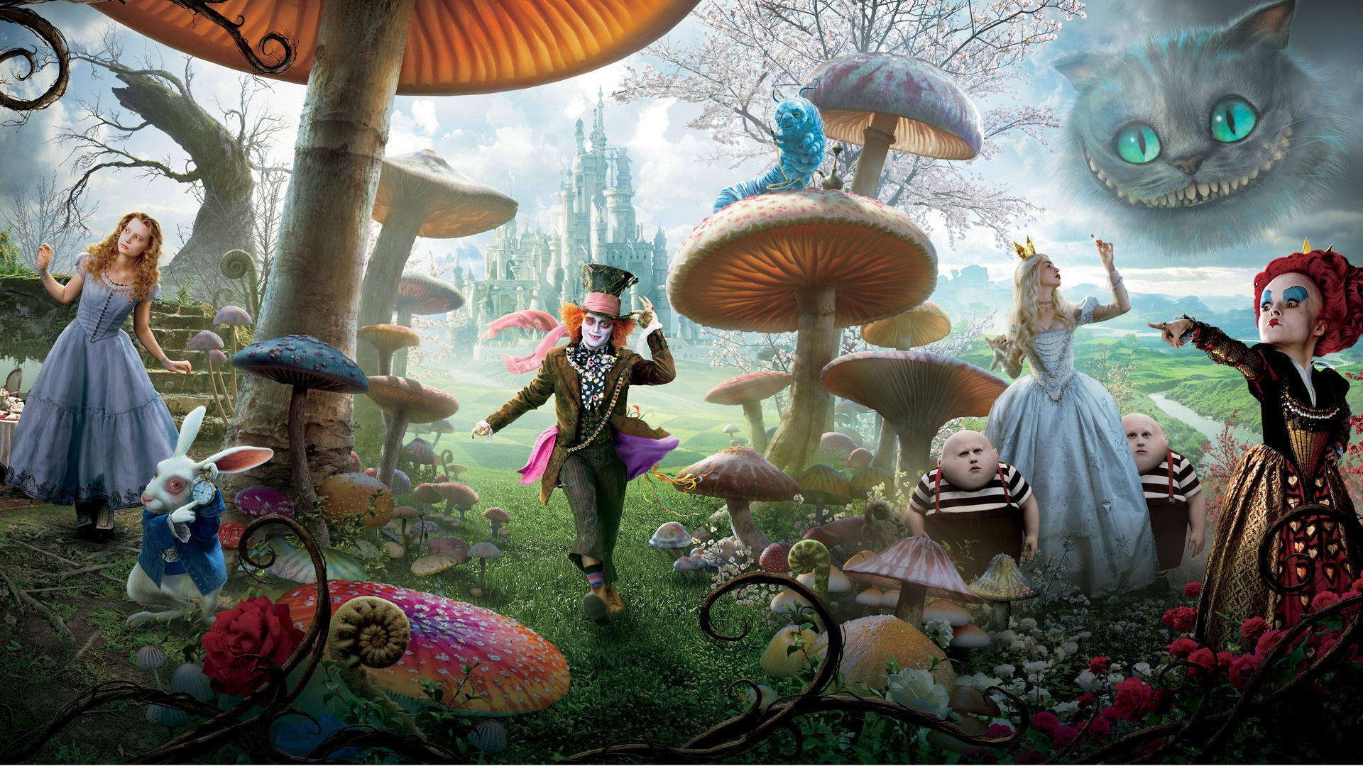 Alice in Wonderland Characters desktop wallpaper | WallpaperPixel