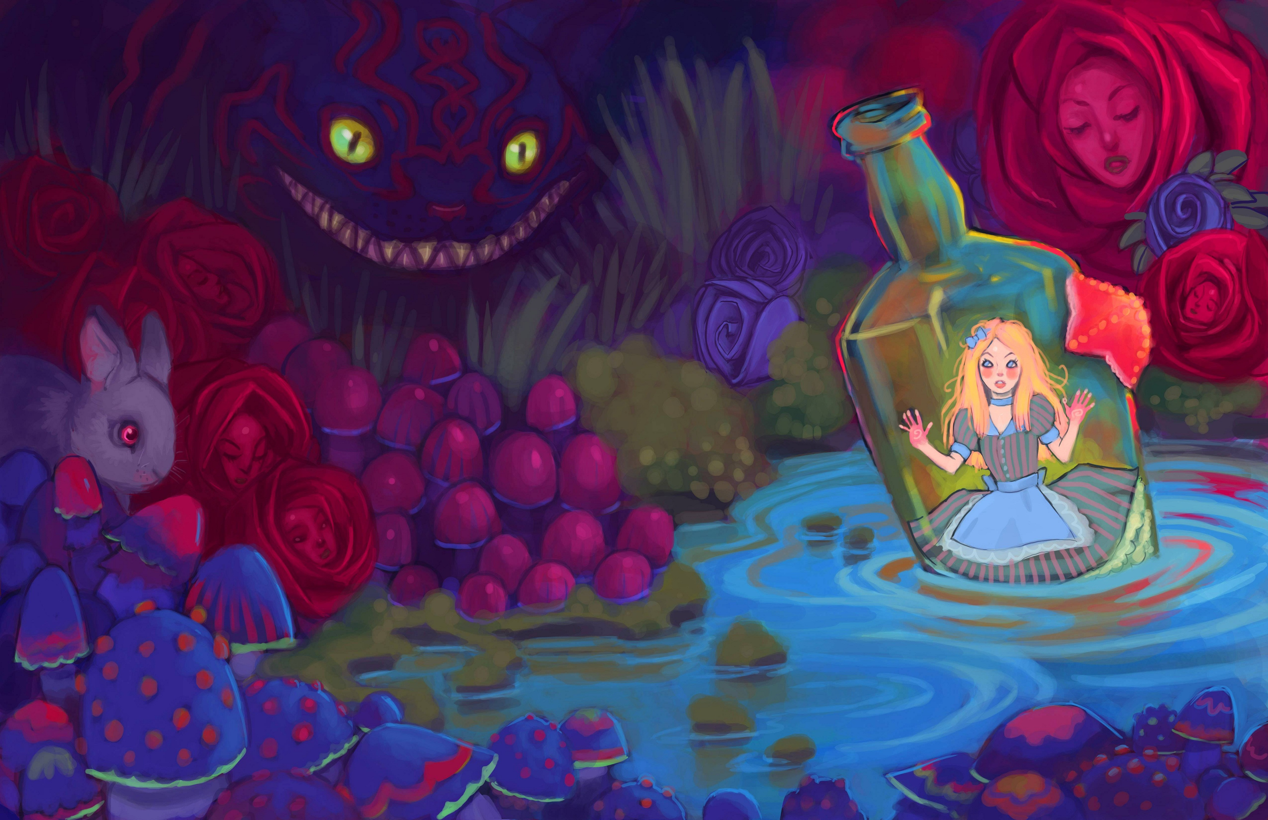 HD Alice in Wonderland Wallpaper | PixelsTalk Net