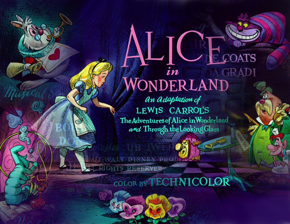 Alice in Wonderland Desktop Background Montage by QueenCheetah on