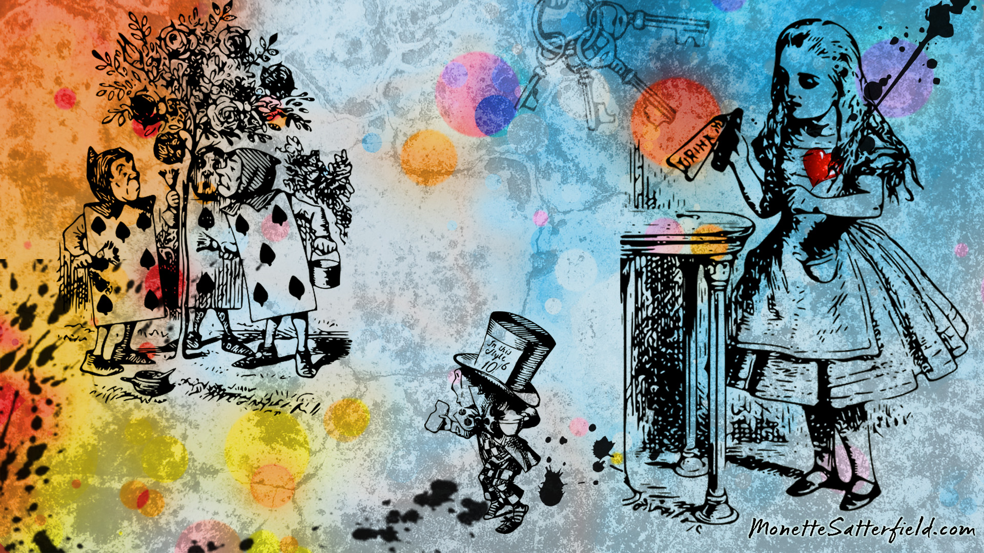 alice in wonderland desktop wallpaper