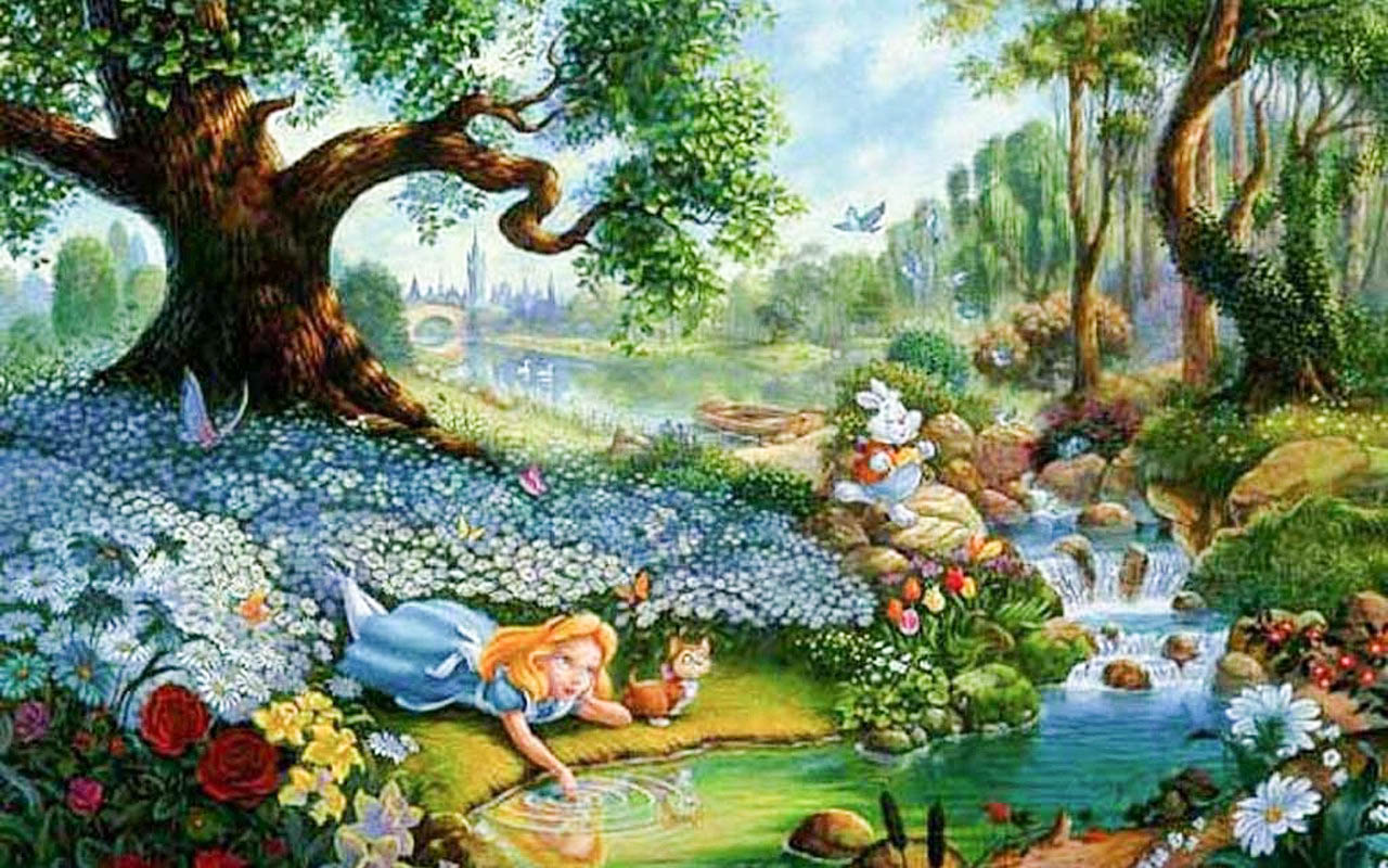 Alice In Wonderland Cartoon Wallpapers | WallpapersIn4k net