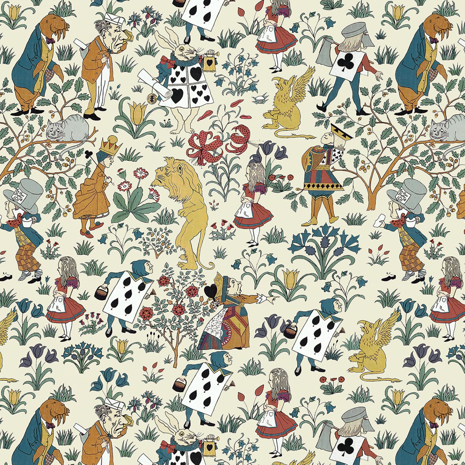 ALICE IN WONDERLAND Wallpaper Cream