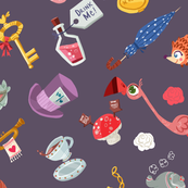 alice in wonderland fabric, wallpaper & gift wrap - Spoonflower