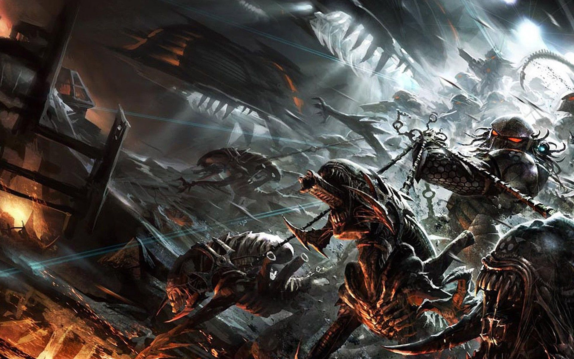 alien vs predator wallpapers - sf wallpaper