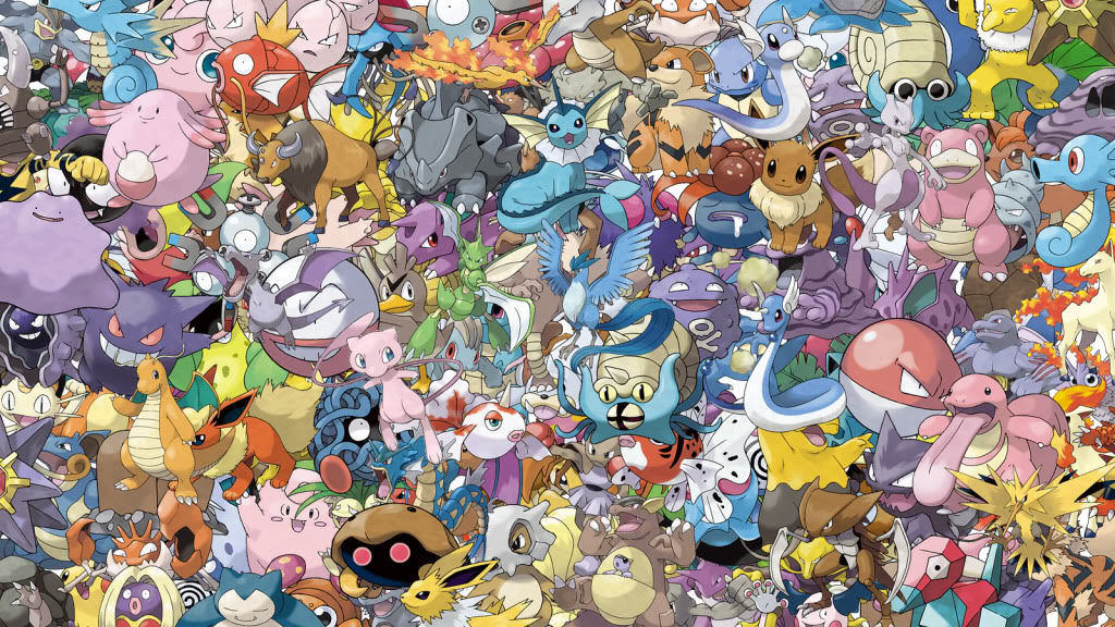Download All Kanto Pokemon Wallpaper 1024x576 | Full HD Wallpapers