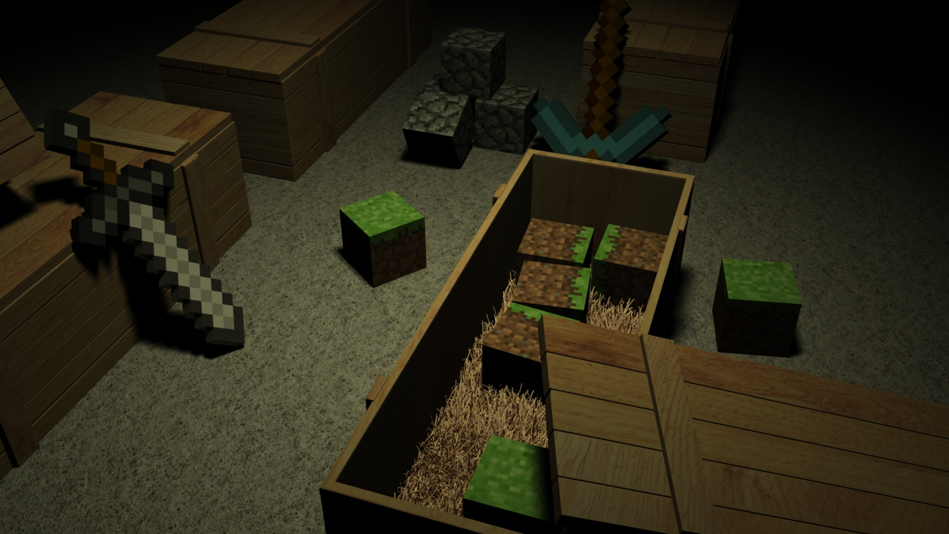 Collection of Awesome Minecraft Background on HDWallpapers