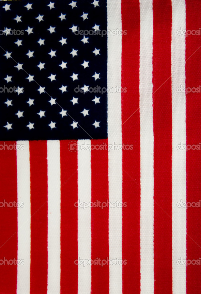 American flag background made of cloth — Stock Photo
