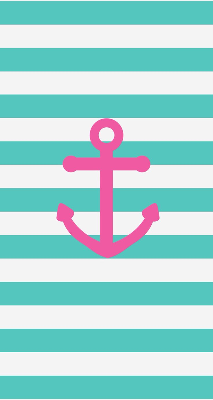 Pink Navy Anchor Iphone Phone Wallpaper Background Lock Screen By Src