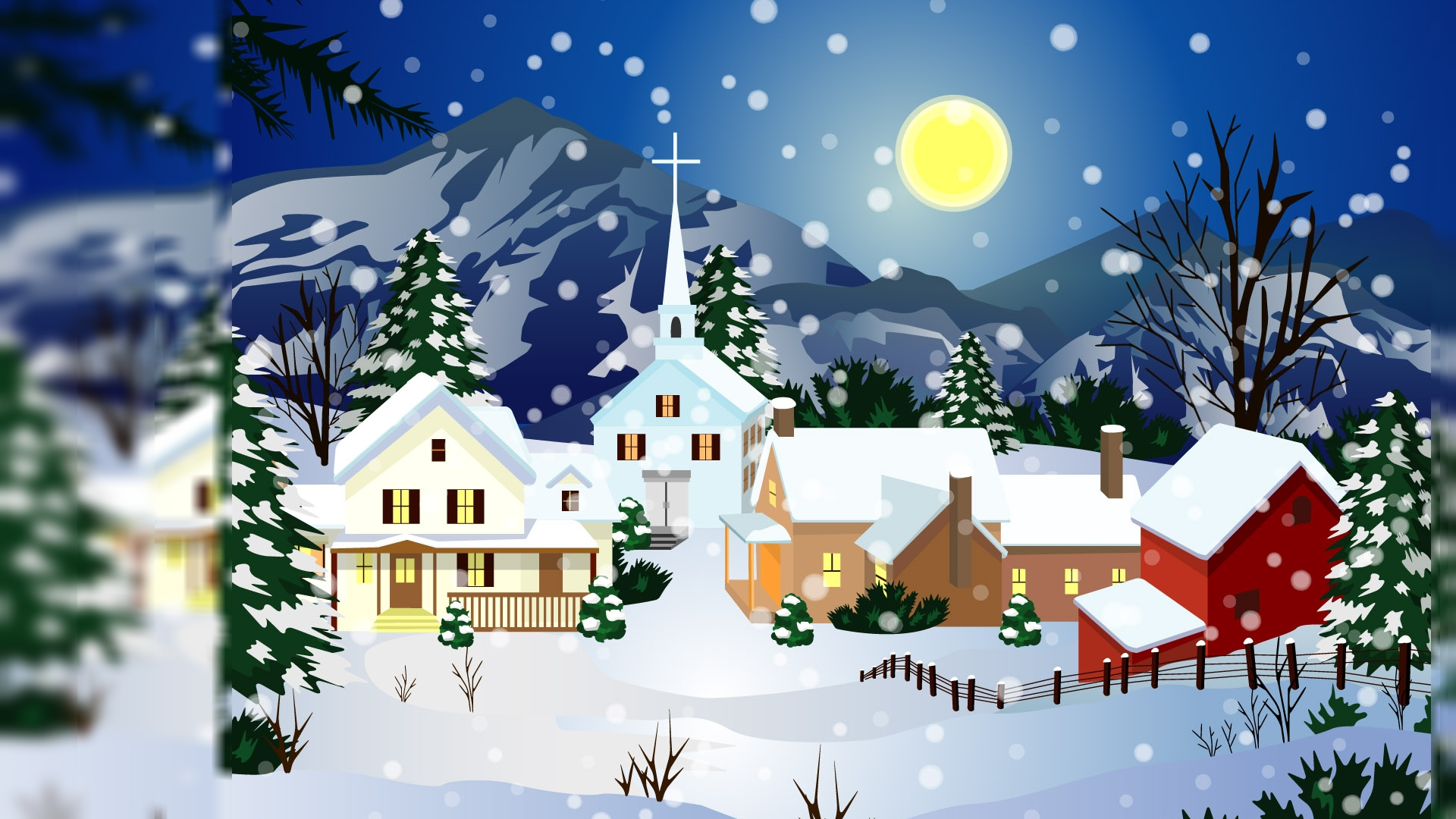 images of animated christmas wallpaper | wallpaper desktop