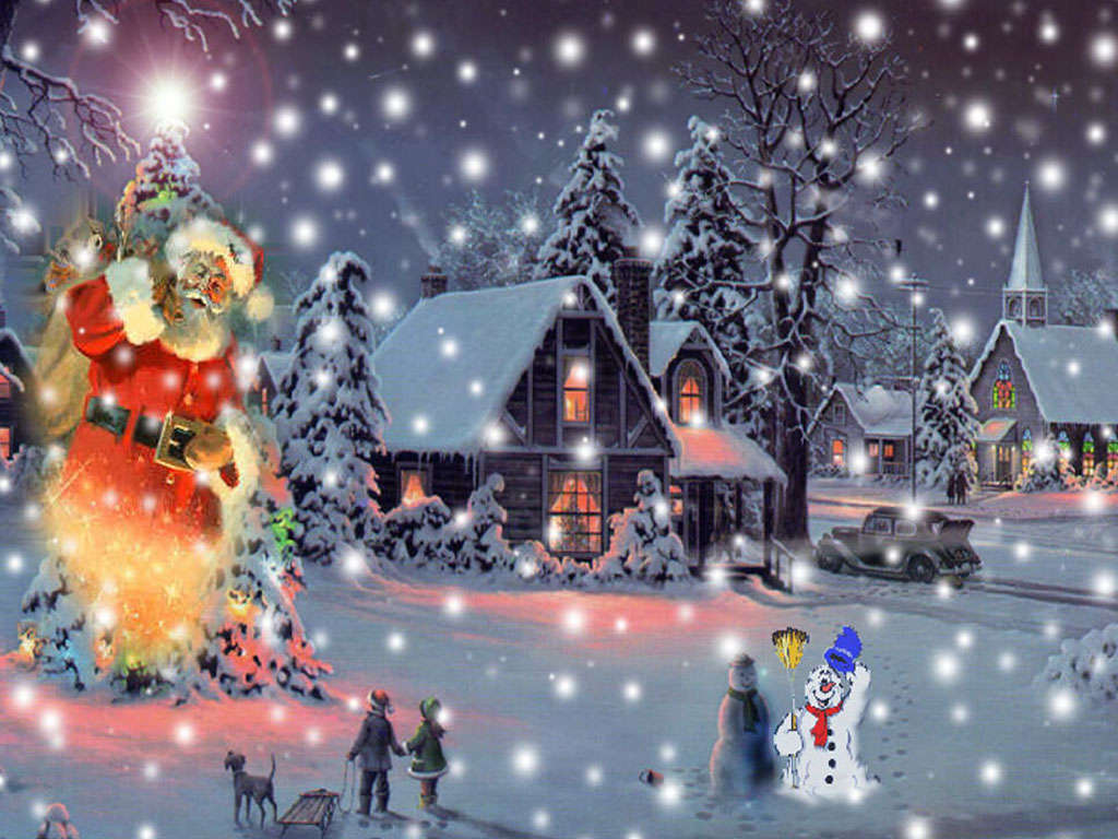 Animated Christmas Wallpapers Free Group (52+)