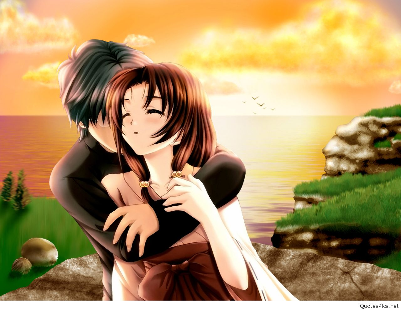 Love animated couple wallpapers new hd