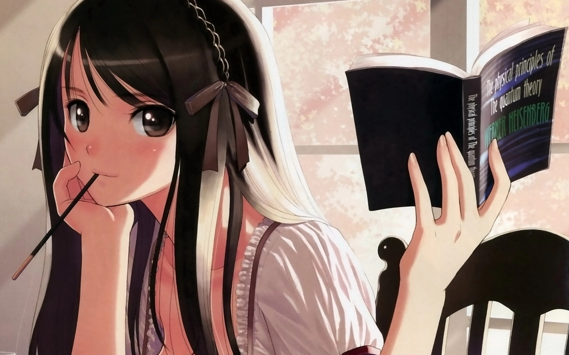 Download Anime Girl Studying Wallpaper 1920x1200 | Full HD Wallpapers