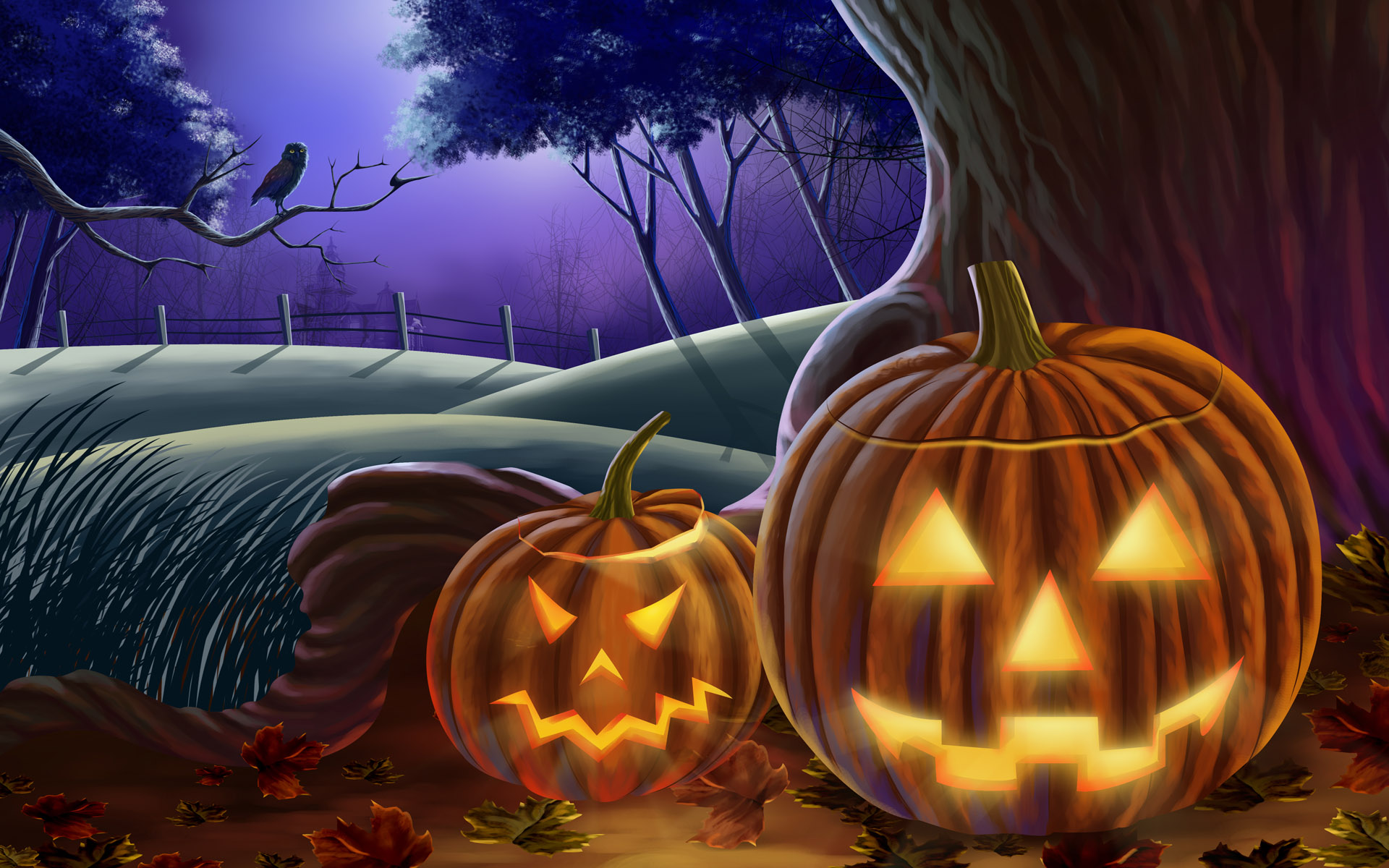 Animated Halloween Wallpapers Group (58+)